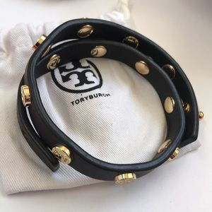 Like new Tory Burch leather double bracelet